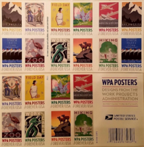 USPS Work Projects Administration WPA Poster Stamp Sheet of 20 Forever, New - $14.95
