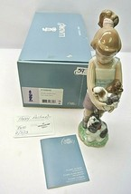 Lladro Can I keep Them? Girl holding Puppies #8690 01008690 - $256.00