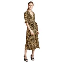 Ganni floral print crepe wrap dress 1 thumb200