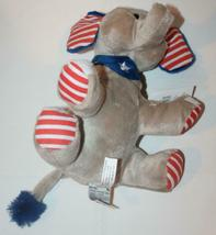 NWT GANZ Elephant H11969 Gray Blue NEW Stuffed Patriotic / Stars and Stripes image 4