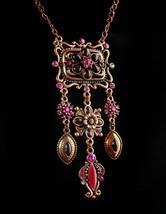 Joan rivers chandelier necklace - Rhinestone enamel edwardian style choker - ros - $70.00