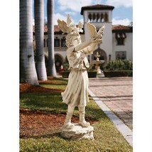 """46"""" Large Scale Little Girl Feeding the Doves of Peace Child Garden Statue - $791.95"""
