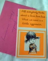 Vintage Mini Mops Tiny Birthday Card 1960s - $2.99