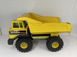 TONKA Mighty Diesel Dump Truck 1993 Metal Toy Yellow Vintage - $49.49