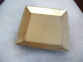 """Square Metal Candle Plate Copper/Black 4.25"""" - $7.91"""
