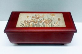 Vntg Westland Co. Art of Chokin Music/Jewelry Box Flowers Plays Memory  - $10.43