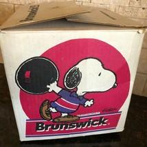 Vintage Snoopy Peanuts Bowling Ball Box EMPTY Brunswick RARE - $79.19