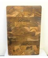 New Teak Cutting Board 8 x 12 Inches Lipper Made in Brazil - $19.79