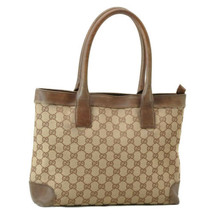 GUCCI GG Canvas Tote Bag Brown Auth rd008 - $130.00