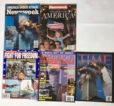 911 WTC Magazines World Trade Center Terror Attack America Time Newsweek... - $19.79