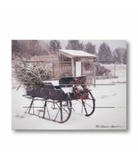 Grandpa's Sleigh new Country wood Pallet Art Print - $29.99