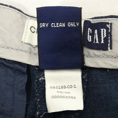 Gap Cropped Dress Pants Career Women Size 8 Blue Wool Blend Wide Leg Stretch