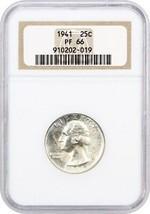 1941 25c NGC PR 66 - Washington Quarter - $135.80