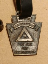 1257----c1930s New Castle (PA) Lodge of Perfection watch fob - $30.00