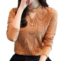 2017 Autumn Women Lace Blouse Long Sleeve Fashion Blouses and Shirts Cro... - $24.90