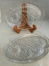 Vintage 3 Federal Glass Homestead Hospitality Clear Glass Luncheon Snack Plate - $9.39