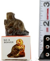 No. 8 Beaver Miniature Porcelain Animal Figurine - Picture Box Whimsies by Wade image 2