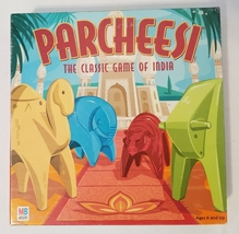 PARCHEESI CLASSIC GAME OF INDIA 2001 MILTON BRADLEY HASBRO #40337 COMPLETE  - $30.00
