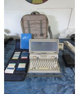 Vtg IBM Laptop PC Convertible Power Supply Carrying Case Disks Powers on  - $445.57
