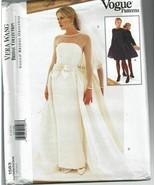 Vogue Sewing Pattern 1583 Bridal Vera Wang Dress Overskirt Size 8 10 12 - $40.49
