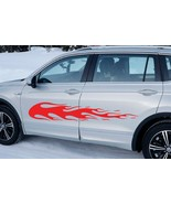 Large Flames Car Body SUV Van Vinyl Stickers Decals - Set of 2 - Left an... - $30.60+