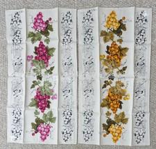 LOT vintage NOS 2 LUTHER TRAVIS signed BELGIAN LINEN KITCHEN TOWELS grap... - $74.95