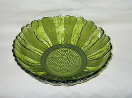 Anchor Hocking Country Garden Pattern Avocado Green 10-inch Bowl - $12.82