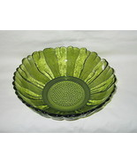 Anchor Hocking Country Garden Pattern Avocado Green 10-inch Bowl - $12.82