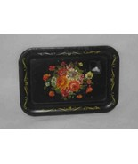 """Neat Vintage 4 1/2"""" x 6 1/2"""" Toleware Tray With Flowers - $28.89"""