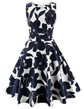 ARANEE Vintage Classy Floral Sleeveless Party Picnic Party Cocktail Dres... - $28.81