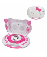 Hello Kitty Portable Karaoke System CD Player Microphone Sing Play Pink ... - $19.79