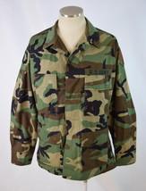 Hot Weather Woodland Camo Combat Army Military Jacket Coat Mens Medium Short - $24.74