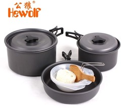 Aluminum Portable Outdoor Cookware Camping Hiking Survival Backpacking P... - $43.54