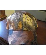 Hat trucker adjustable Ball Cap Forrest tree design Camouflage Camou hat - $9.98