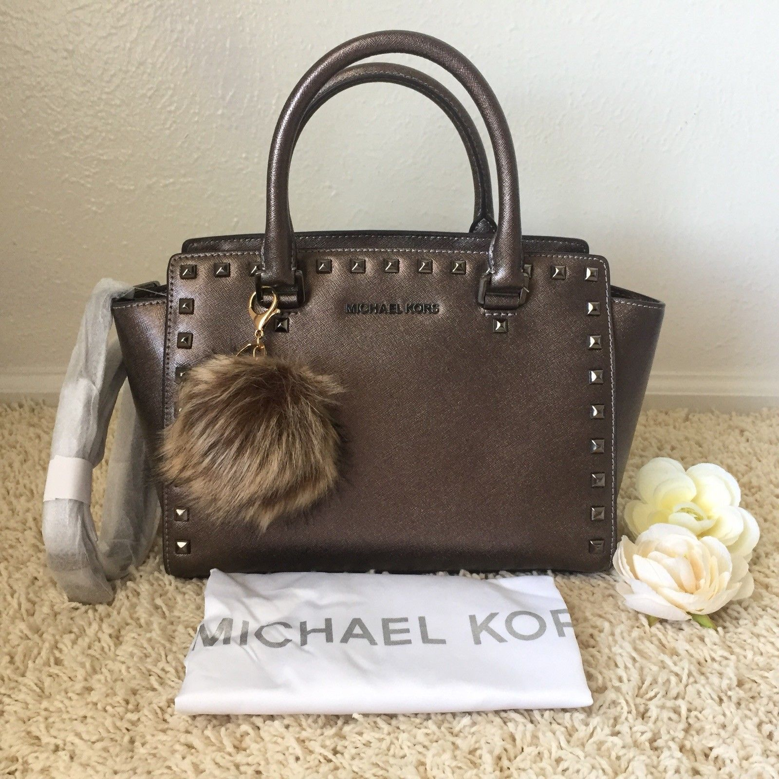 ... michael kors cary small leather bucket bag oxblood c47a6 caba7 ireland  flashsalemichael kors selma stud top zip and 50 similar items 53165 aca31  ... 9ff81b7702cc3