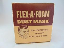 1950s Dust Mask mint in box cool graphics, clean flex a foam - $9.89