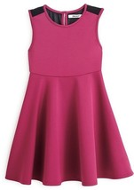 DKNY Girls' Neoprene Sleeveless Skater Dress, Purple Potn, Size 2T, MSRP... - $23.75