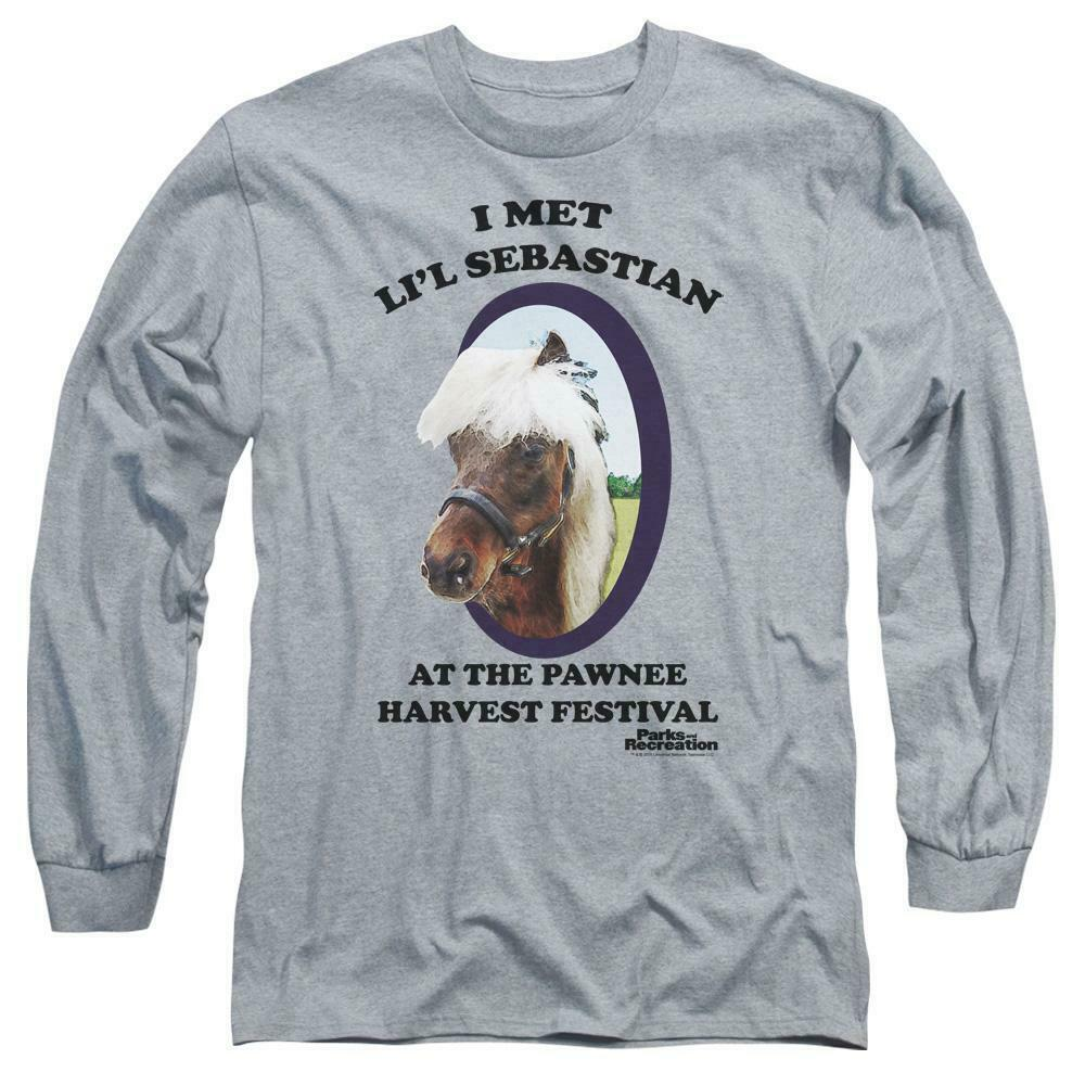 I met Lil Sebastian T-shirt Parks  Recreation long sleeve graphic tee NBC481