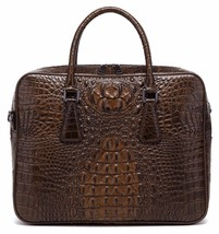 New Crocodile Embossed Pattern Italian Leather Briefcase Laptop Bag Man ... - $189.95