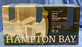 Hampton Bay Seaport 52 in. LED Indoor/Outdoor White Ceiling Fan - $108.89