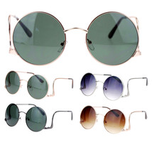 SA106 Womens Swan Drop Temple Retro Circle Round Lens Runway Sunglasses - $9.95