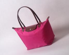 Longchamp New Le Pliage Nylon Tote Handbag Pink Large France - $84.99