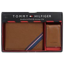 Tommy Hilfiger Men's Double Bi Fold Wallet & Money Clip Gift Box Set 41TL24X025