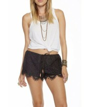Chaser Lace drawstring Shorts Small NWT New Black Revolve Reg $70 - $28.04