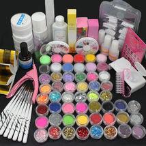 Shimmer Nail Art Set Glitter Acrylic Liquid Powder UV Gel Topcoat False ... - $39.24