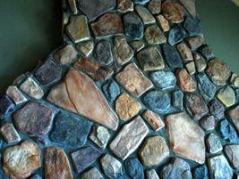 #OAF-04 - 14 FIELDSTONE GARDEN MOLDS MAKE 100s OF CUSTOM CONCRETE STONES PENNIES image 4