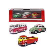 Volkswagen Coca Cola 3 Piece Gift Set 1/72 Diecast Car Models by Motorci... - $36.32