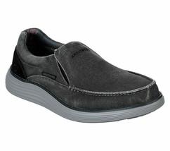 Skechers Black shoe Men's Canvas Memory Foam Slipon Comfort Loafer Vinta... - $39.99