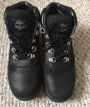 Pre Owned Timberland Field Big Kids Boots Black 15906~ Size 5 - $34.65