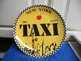 "Studio Nova TPC New York Taxi Salad Plate 7 7/8"" diam Lot Of  3 - $26.17"